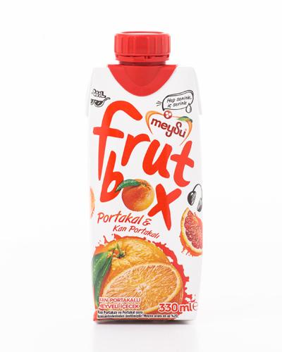 Meysu Frut Box 330 Ml Dogal Portakal Kirmizi Portakal Icecek